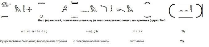 Авторская транслитерация и авторский перевод второго отрывка жизнеописания областного князя